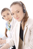 Portrait of female customer service representative Stock Image