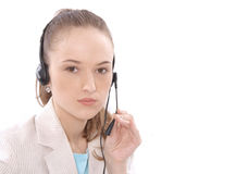 Portrait of female customer service representative Royalty Free Stock Image