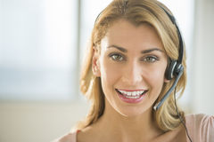 Portrait Of Female Customer Service Representative Royalty Free Stock Photos