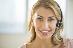 Portrait Of Female Customer Service Representative Royalty Free Stock Photos