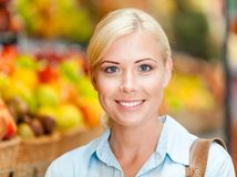 Portrait of female customer at the shop Royalty Free Stock Photography
