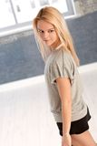 Portrait of female dancer Royalty Free Stock Photos