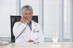 Portrait of female doctor Stock Image