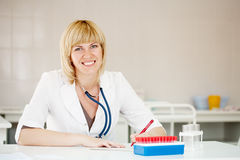 Portrait of female doctor Stock Photos
