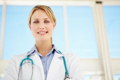 Portrait of female doctor Stock Images
