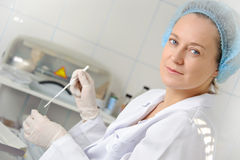 Portrait female doctor. Royalty Free Stock Photos
