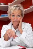 Portrait of an female doctor Stock Photos