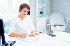 Doctor in a clinic Stock Photography