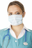 Portrait of female doctor in mask Stock Image