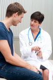 Portrait of female doctor with patient Royalty Free Stock Image