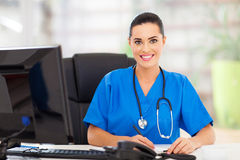 Doctor writing report Stock Images