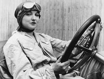 Portrait of female driver Royalty Free Stock Photography