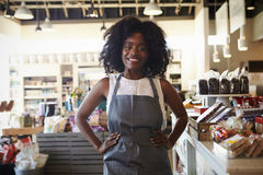 Portrait Of Female Employee Working In Delicatessen Royalty Free Stock Images
