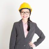 Portrait of female engineer Stock Photos