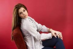 Portrait of a female fashion model royalty free stock photo
