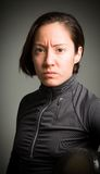 Portrait of a female fencer wearing fencing Royalty Free Stock Photos
