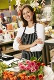 Portrait Of Female Florist In Shop Stock Images
