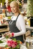 Portrait Of Female Florist In Shop Stock Photo