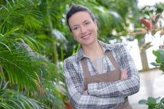 Portrait female gardener smiling Royalty Free Stock Image