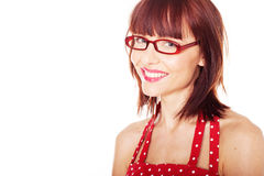Portrait of female with glasses Stock Photo