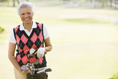 Portrait Of A Female Golfer Stock Photography