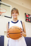 Portrait Of Female High School Basketball Player Royalty Free Stock Photography