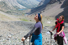 Portrait of Female Hiker Stock Images