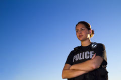 Portrait of Female Hispanic Police Officer Royalty Free Stock Photo