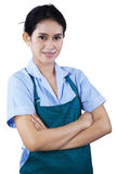 Portrait of female housekeeper Royalty Free Stock Photography