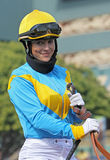 Portrait of Female Jockey Chantal Sutherland Royalty Free Stock Image