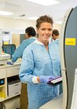 Portrait of Female Lab Tech Stock Images
