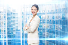Portrait of female manager with arms crossed Stock Image