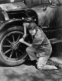 Portrait of female mechanic working Royalty Free Stock Photos