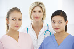 Portrait Of Female Medical Team Royalty Free Stock Photos