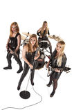 Portrait of female music band Stock Photos