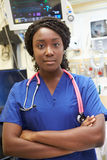 Portrait Of Female Nurse In Emergency Room Royalty Free Stock Photos