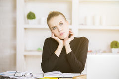 Portrait of female in office Stock Photo