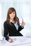 Portrait of female office worker. Stock Image