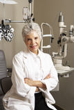 Portrait Of Female Optician In Surgery Stock Image