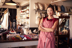Portrait Of Female Owner Standing In Gift Store Royalty Free Stock Photos