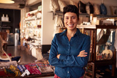 Portrait Of Female Owner Standing In Gift Store Royalty Free Stock Images