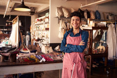 Portrait Of Female Owner Standing In Gift Store Royalty Free Stock Image