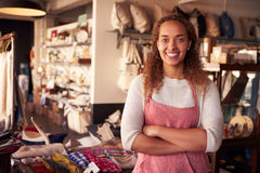 Portrait Of Female Owner Standing In Gift Store Stock Image