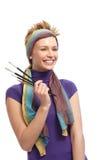 Portrait of female painter smiling Stock Image
