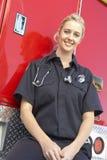 Portrait of female paramedic Stock Images