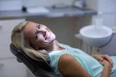 Portrait of female patient smiling Royalty Free Stock Photos