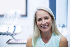 Portrait of female patient smiling Royalty Free Stock Images