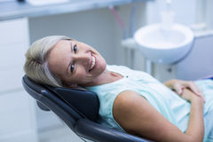 Portrait of female patient smiling Royalty Free Stock Image