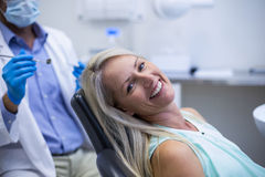 Portrait of female patient smiling Royalty Free Stock Photography