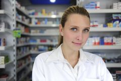 Portrait of a female pharmacist Royalty Free Stock Image
